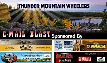 Thunder Mountain Wheelers email header