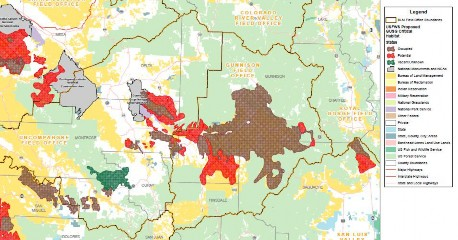 Gunnison Sage Grouse map