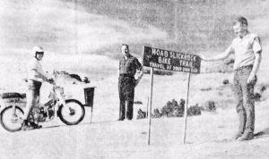 The first official sign marking Slickrock Trail | Photo: Times-Independent Archives