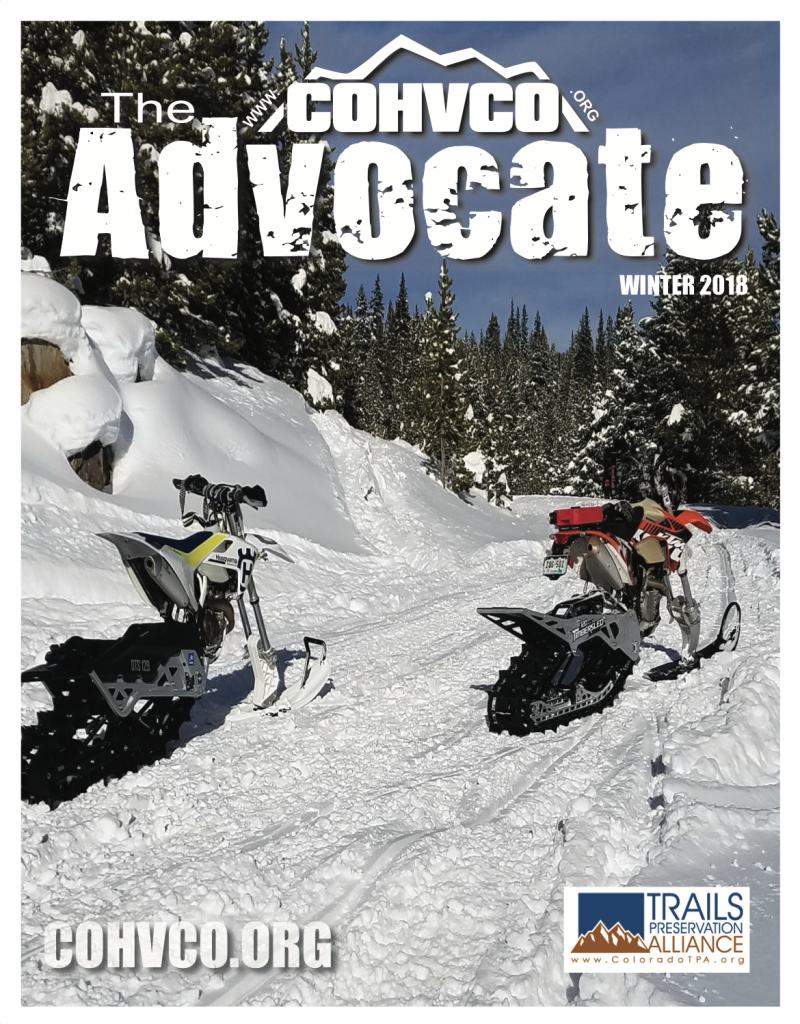 2018 Winter COHVCO Advocate Cover image