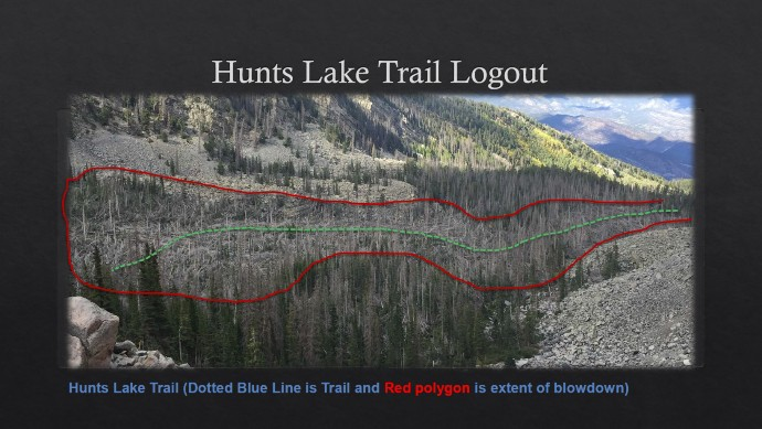 Hunts Lake Trail Logout