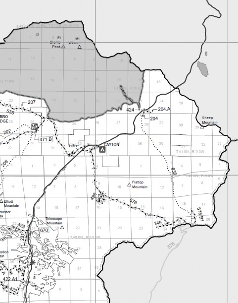 Map - 2014 Dolores Ranger District MVUM