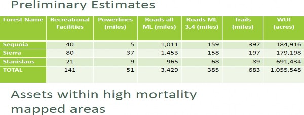 graphic: Forest Service Response to Elevated Tree Mortality