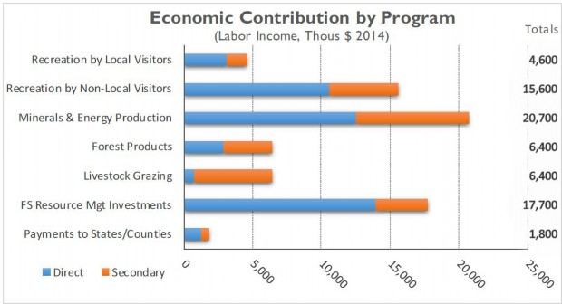 Graph: Economic Contribution by Program - Labor Income