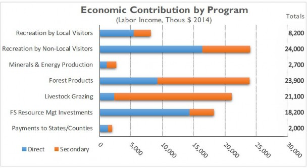 Economic Contribution by Progrom - Labor Income