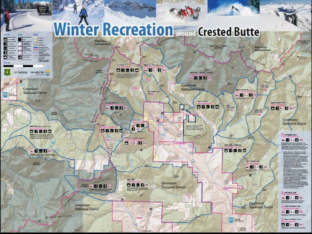 Winter Recreation map