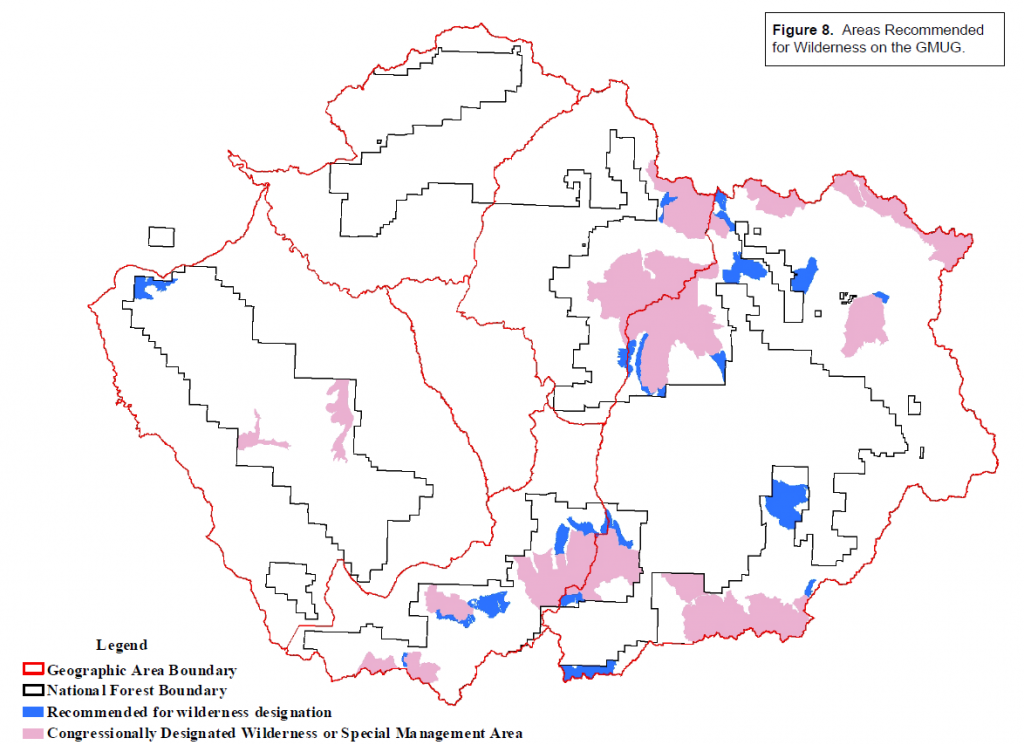 2007 Draft RMP map of recommended Wilderness