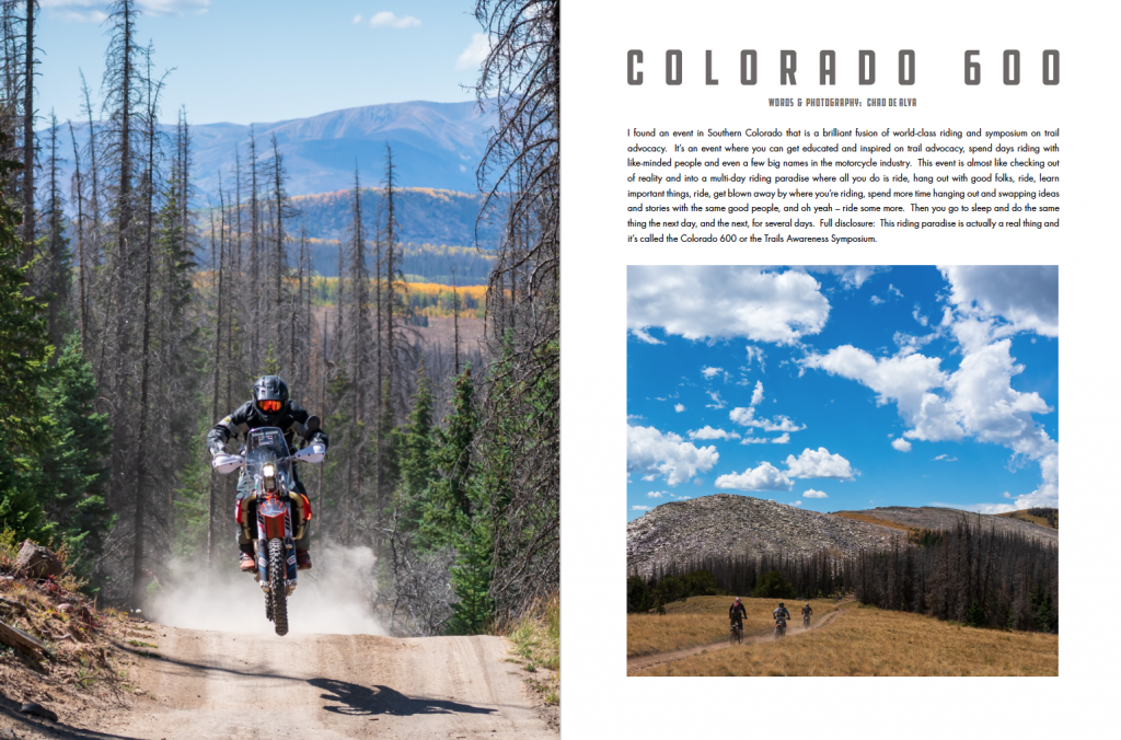 Colorado 600 Article cover page