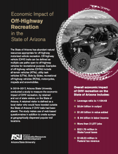 Cover of PDF for Economic Impact of Off-HIghway Recreation in the State of Arizona