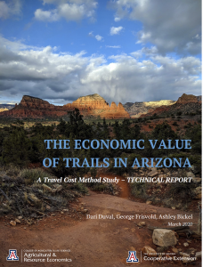Arizona Trails Economic Study 2020 cover mountains and sky