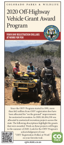 2020 OHV Grant Award Program cover image