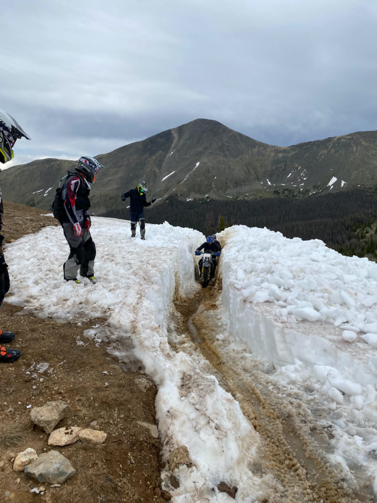 Motorcycle Trail Riders clear snow and open popular trail June 29, 2020