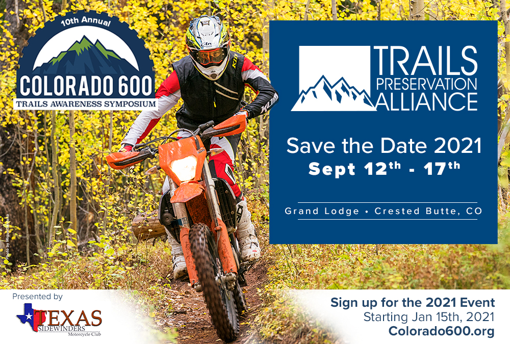 Save the Date - 2021 Colorado 600