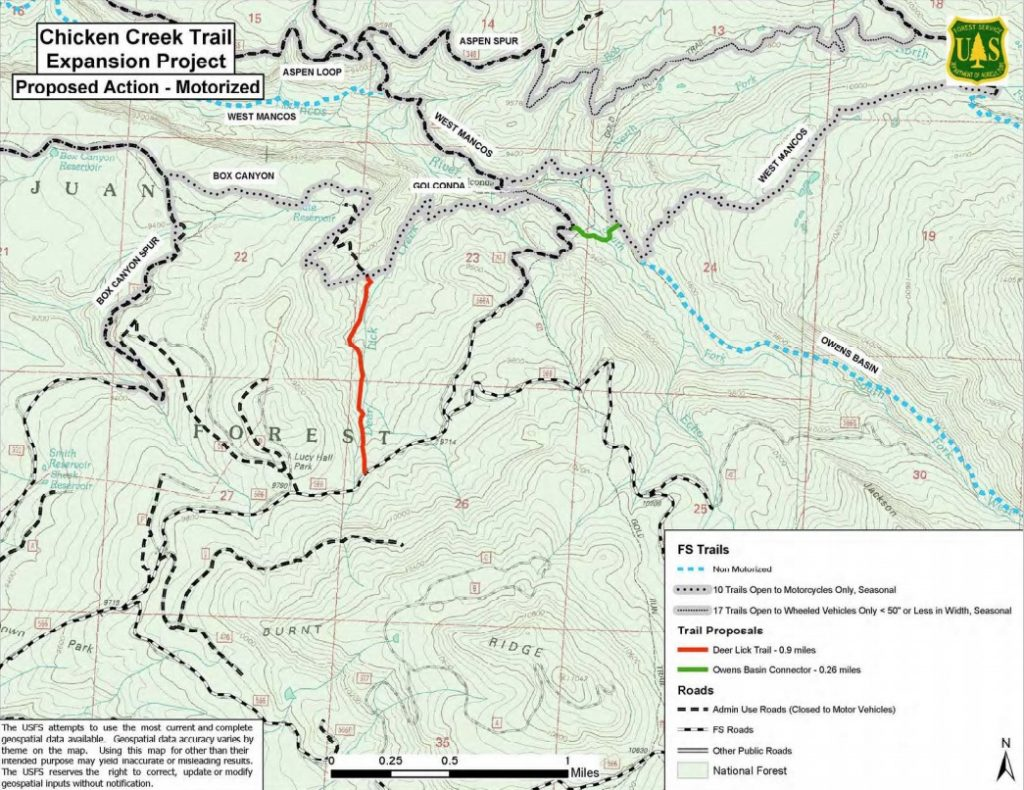Chicken Creek Trail Map