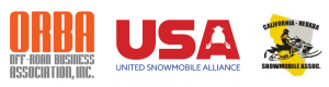 Off Road Business Association, United Snowmobile Alliance, CA NV Snowmobile Assoc logos